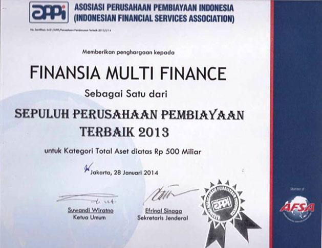 2013 - Multi Finance Terbaik Versi APPI