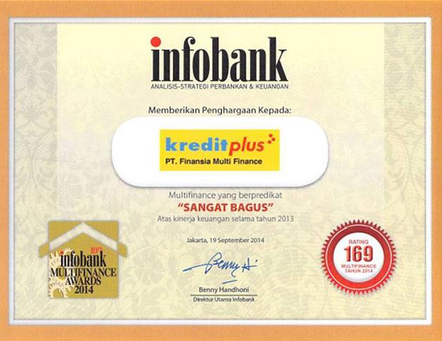 2013 - Multi Finance Terbaik Versi Infobank